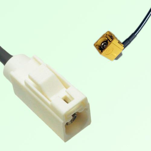FAKRA SMB B 9001 white Female Jack to K 1027 Curry Female RA Cable