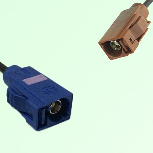 FAKRA SMB C 5005 blue Female Jack to F 8011 brown Female Jack Cable
