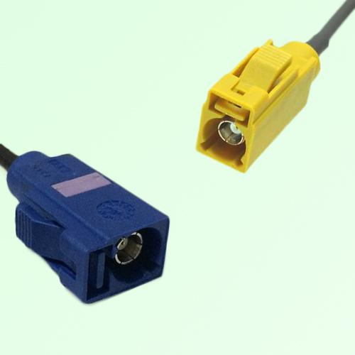 FAKRA SMB C 5005 blue Female Jack to K 1027 Curry Female Jack Cable