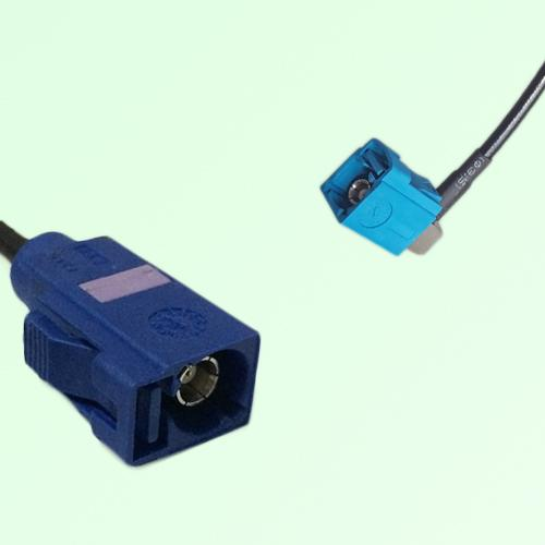 FAKRA SMB C 5005 blue Female Jack to Z 5021 Water Blue Female RA Cable