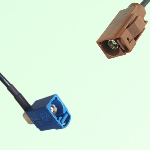 FAKRA SMB C 5005 blue Female Jack RA to F 8011 brown Female Jack Cable