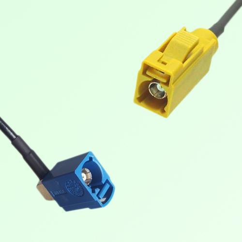 FAKRA SMB C 5005 blue Female Jack RA to K 1027 Curry Female Jack Cable