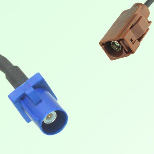 FAKRA SMB C 5005 blue Male Plug to F 8011 brown Female Jack Cable