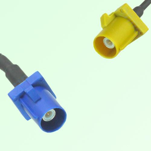 FAKRA SMB C 5005 blue Male Plug to K 1027 Curry Male Plug Cable