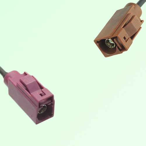 FAKRA SMB D 4004 bordeaux Female Jack to F 8011 brown Female Cable