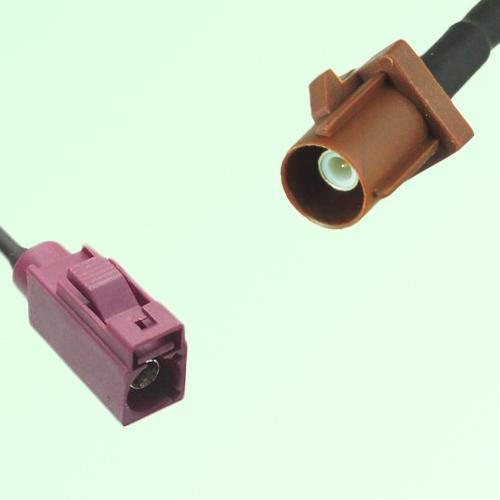 FAKRA SMB D 4004 bordeaux Female Jack to F 8011 brown Male Plug Cable