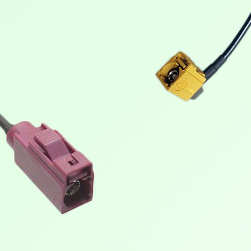 FAKRA SMB D 4004 bordeaux Female Jack to K 1027 Curry Female RA Cable