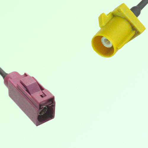 FAKRA SMB D 4004 bordeaux Female Jack to K 1027 Curry Male Plug Cable