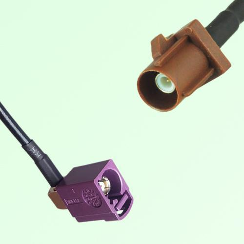 FAKRA SMB D 4004 bordeaux Female Jack RA to F 8011 brown Male Cable
