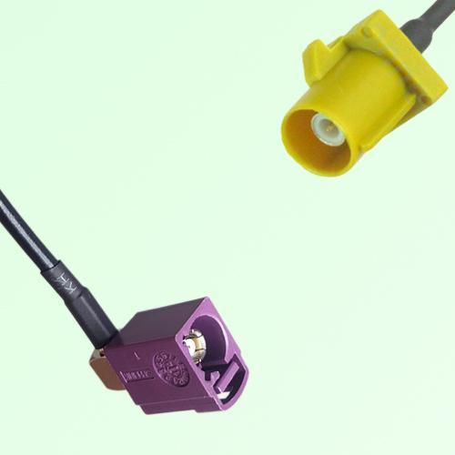 FAKRA SMB D 4004 bordeaux Female Jack RA to K 1027 Curry Male Cable
