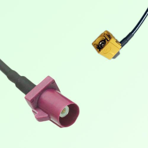 FAKRA SMB D 4004 bordeaux Male to K 1027 Curry Female RA Cable
