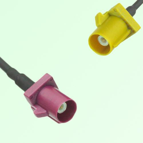 FAKRA SMB D 4004 bordeaux Male Plug to K 1027 Curry Male Plug Cable