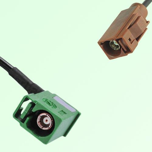 FAKRA SMB E 6002 green Female Jack RA to F 8011 brown Female Cable