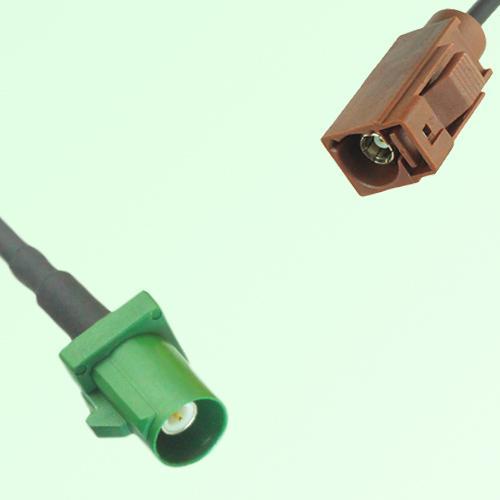 FAKRA SMB E 6002 green Male Plug to F 8011 brown Female Jack Cable