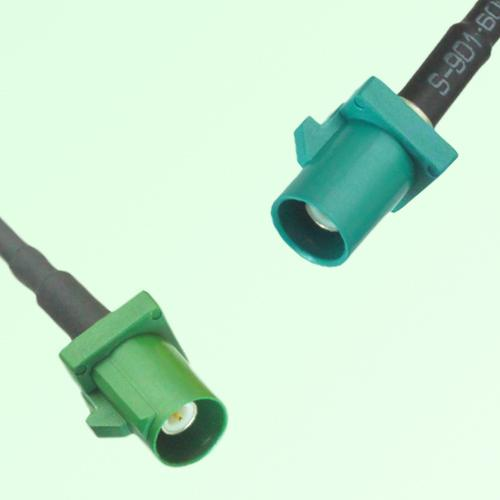 FAKRA SMB E 6002 green Male Plug to Z 5021 Water Blue Male Plug Cable