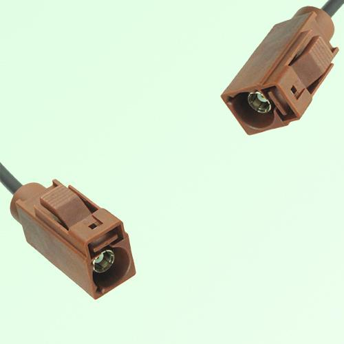 FAKRA SMB F 8011 brown Female Jack to F 8011 brown Female Jack Cable