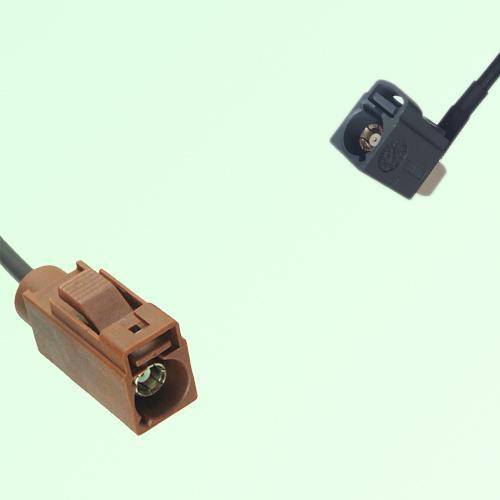 FAKRA SMB F 8011 brown Female Jack to G 7031 grey Female Jack RA Cable