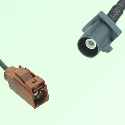 FAKRA SMB F 8011 brown Female Jack to G 7031 grey Male Plug Cable