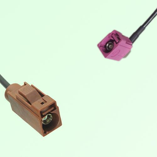 FAKRA SMB F 8011 brown Female Jack to H 4003 violet Female RA Cable