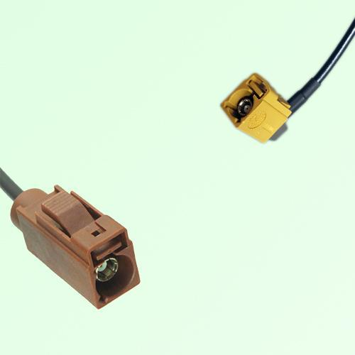 FAKRA SMB F 8011 brown Female Jack to K 1027 Curry Female RA Cable
