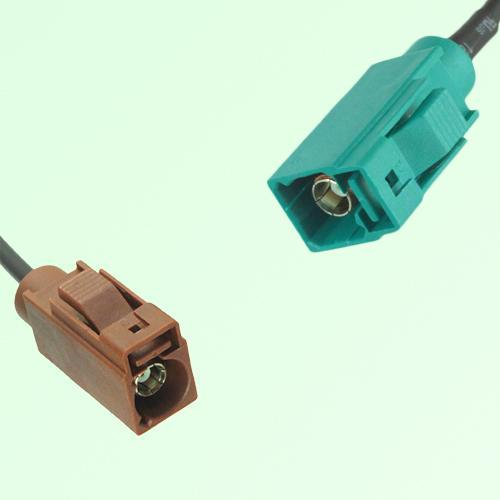 FAKRA SMB F 8011 brown Female Jack to Z 5021 Water Blue Female Cable