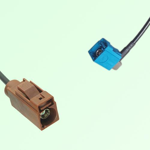 FAKRA SMB F 8011 brown Female to Z 5021 Water Blue Female RA Cable
