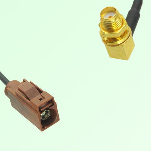 FAKRA SMB F 8011 brown Female Jack to SMA Bulkhead Female RA Cable