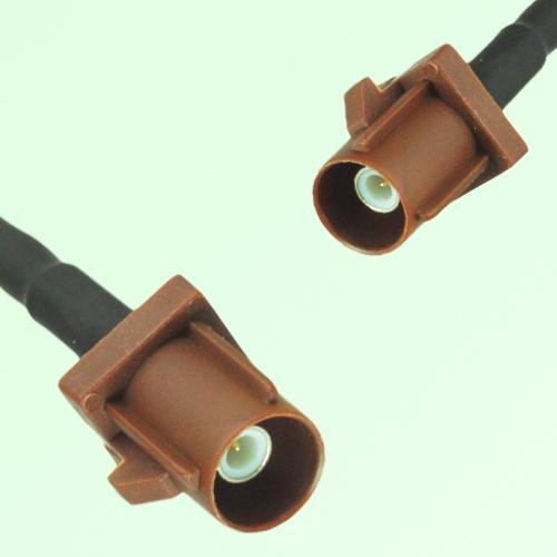 FAKRA SMB F 8011 brown Male Plug to F 8011 brown Male Plug Cable