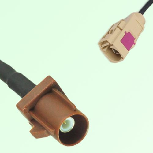 FAKRA SMB F 8011 brown Male Plug to I 1001 beige Female Jack Cable