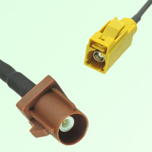 FAKRA SMB F 8011 brown Male Plug to K 1027 Curry Female Jack Cable