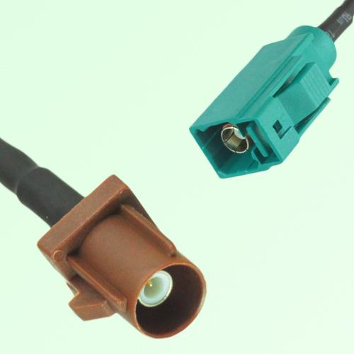 FAKRA SMB F 8011 brown Male Plug to Z 5021 Water Blue Female Cable