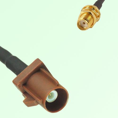 FAKRA SMB F 8011 brown Male Plug to SMA Bulkhead Female Jack Cable