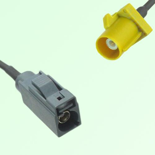 FAKRA SMB G 7031 grey Female Jack to K 1027 Curry Male Plug Cable