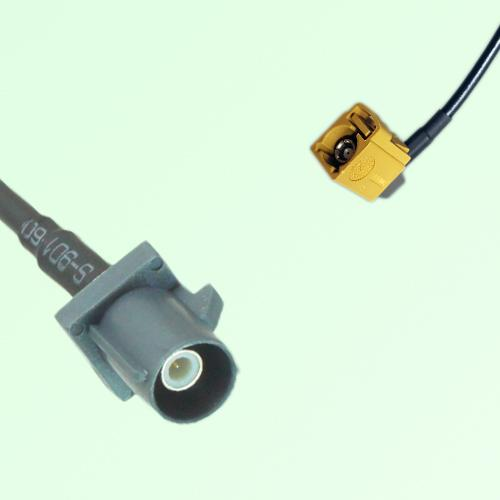 FAKRA SMB G 7031 grey Male Plug to K 1027 Curry Female Jack RA Cable
