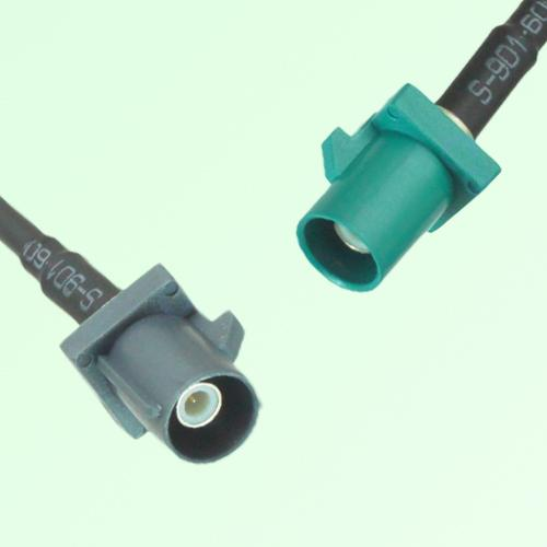 FAKRA SMB G 7031 grey Male Plug to Z 5021 Water Blue Male Plug Cable