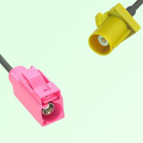 FAKRA SMB H 4003 violet Female Jack to K 1027 Curry Male Plug Cable