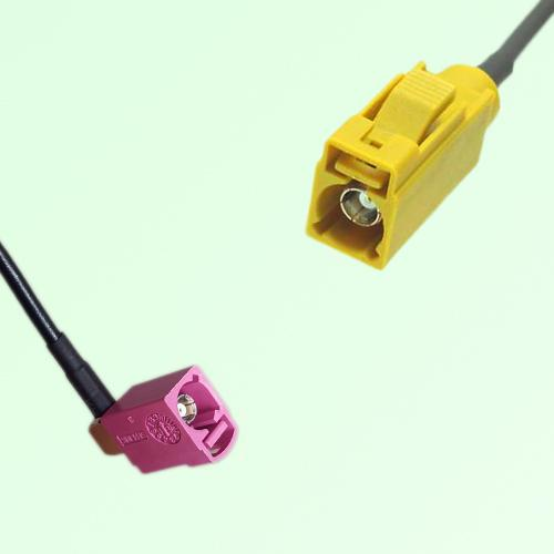 FAKRA SMB H 4003 violet Female Jack RA to K 1027 Curry Female Cable