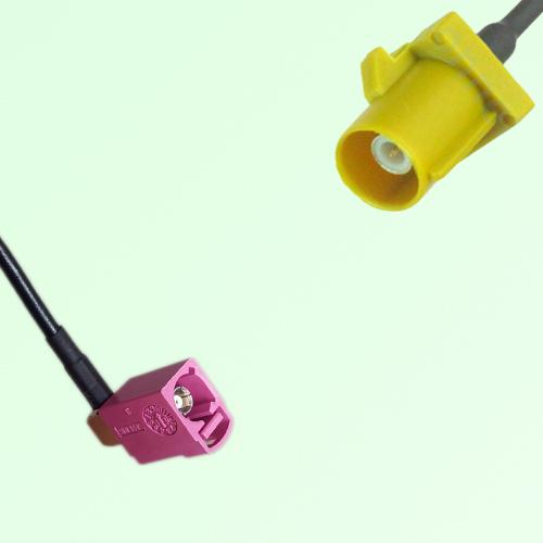 FAKRA SMB H 4003 violet Female Jack RA to K 1027 Curry Male Plug Cable