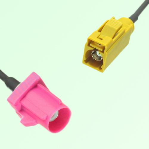 FAKRA SMB H 4003 violet Male Plug to K 1027 Curry Female Jack Cable