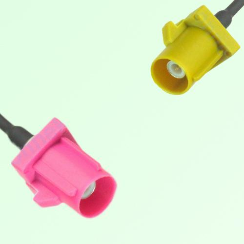 FAKRA SMB H 4003 violet Male Plug to K 1027 Curry Male Plug Cable
