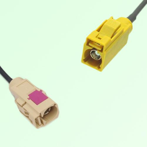 FAKRA SMB I 1001 beige Female Jack to K 1027 Curry Female Jack Cable