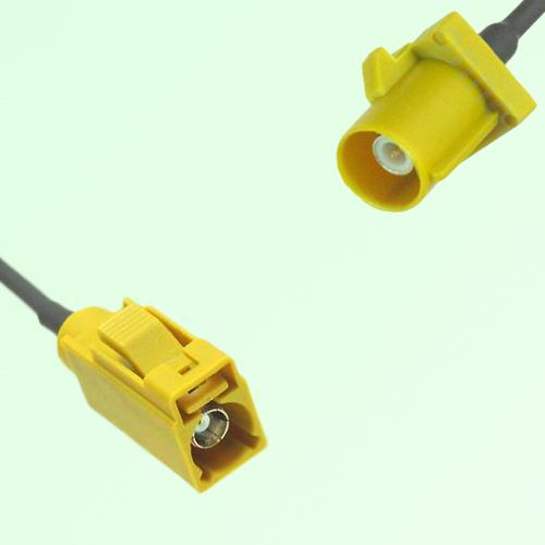 FAKRA SMB K 1027 Curry Female Jack to K 1027 Curry Male Plug Cable