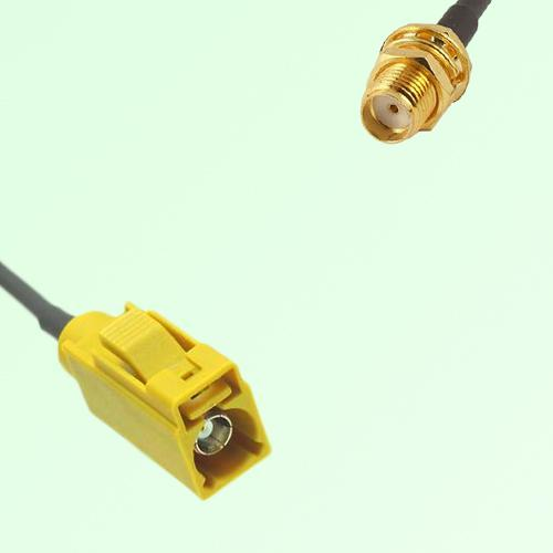 FAKRA SMB K 1027 Curry Female Jack to SMA Bulkhead Female Jack Cable