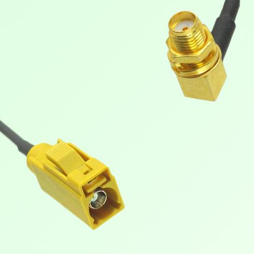 FAKRA SMB K 1027 Curry Female Jack to SMA Bulkhead Female RA Cable