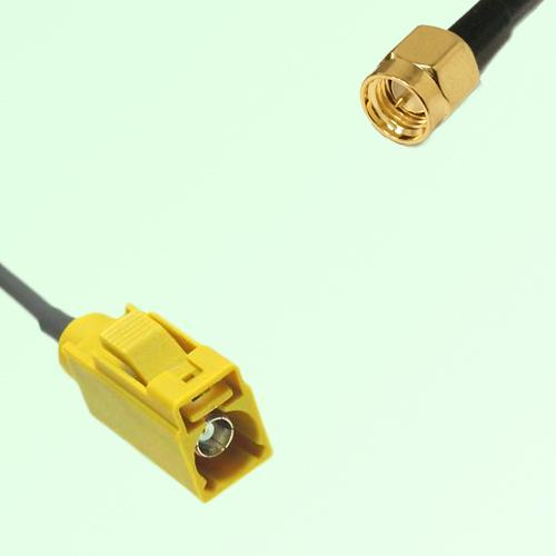 FAKRA SMB K 1027 Curry Female Jack to SMA Male Plug Cable
