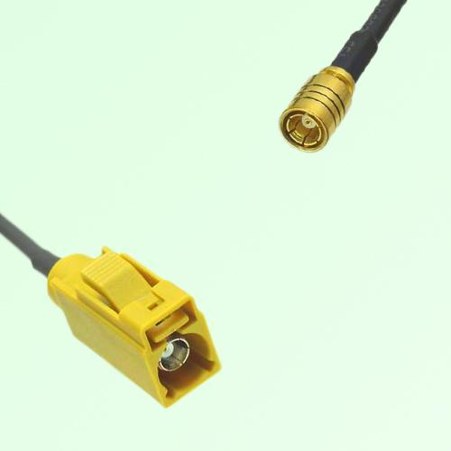 FAKRA SMB K 1027 Curry Female Jack to SMB Female Jack Cable