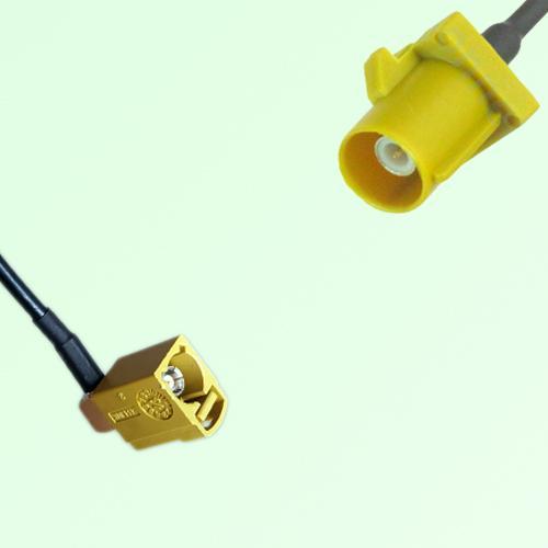 FAKRA SMB K 1027 Curry Female Jack RA to K 1027 Curry Male Plug Cable