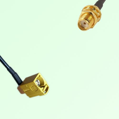FAKRA SMB K 1027 Curry Female Jack RA to SMA Bulkhead Female Cable
