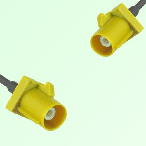 FAKRA SMB K 1027 Curry Male Plug to K 1027 Curry Male Plug Cable