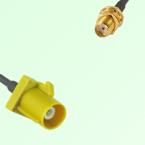 FAKRA SMB K 1027 Curry Male Plug to SMA Bulkhead Female Jack Cable